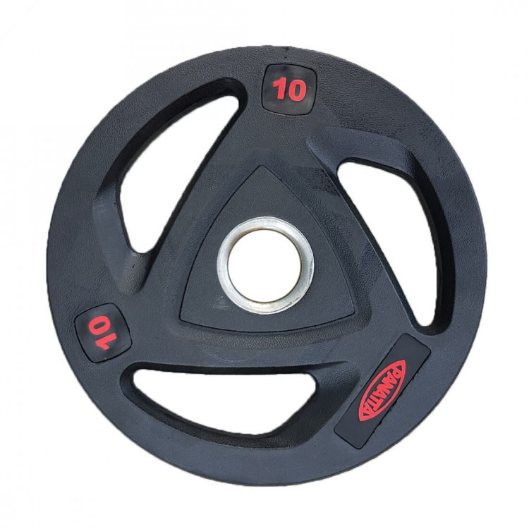 Olympic Weight Plates - 3 Grip Rubber Coated