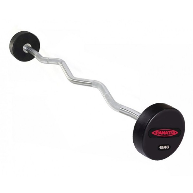 Fixed Rubber EZ Curl Bar