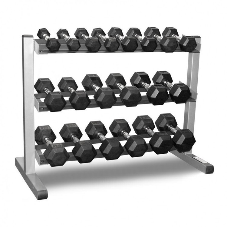 3 Tier Hex Dumbbell Rack