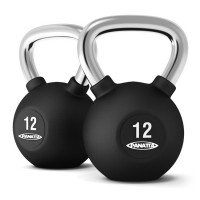 Kettlebells - Rubber with Chrome Cast Steel Handle