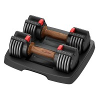 14.5 Pound Adjustable Quick Change Dumbbells with Storage Case