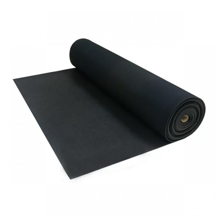 Roll Out Black Rubber Flooring
