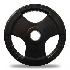 Olympic Tri-Grip Rubber Weight Plates