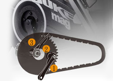 Three-piece crank set