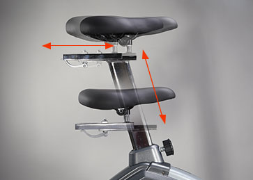 4 direction adjustments for seat